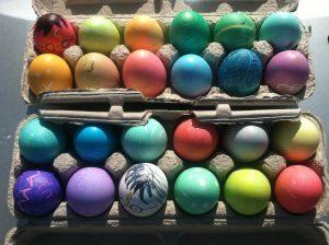 イースター(復活祭)の飾り、色にこだわってみる